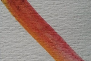 Twee kleuren aanbrengen op plat penseel