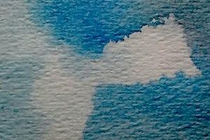 Deppen in natte verf met tissue