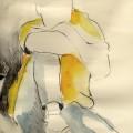 potlood, aquarel 30 x 40 cm