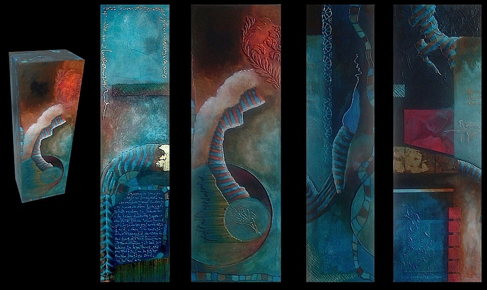 Beeldschilderij met 5 zijden
