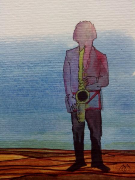 Het muzikale saxofoonbouwstuk