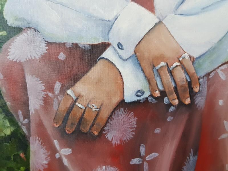 Lucy's handen (detail)
