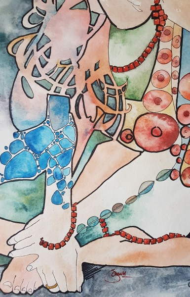 Handen - aquarel